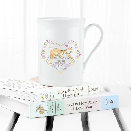 Personalised Guess How Much I Love You Heart Wreath Bone China Mug